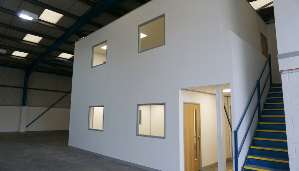 Office Mezzanine Floor With Offices Above And Below