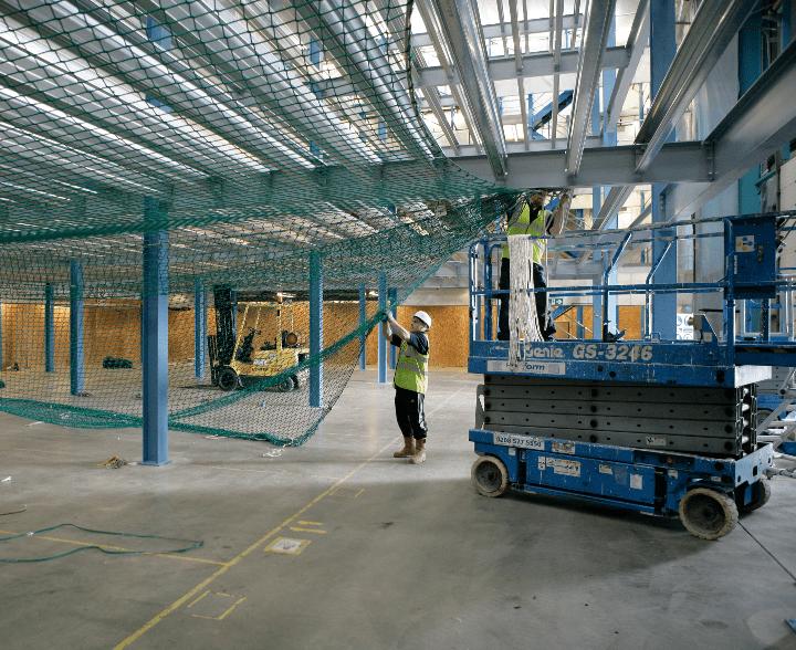 Production Mezzanine Floor Safety Netting