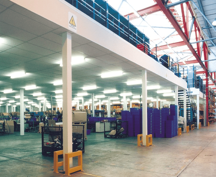 Production Mezzanine Floor with Packing Stations