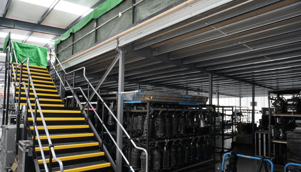 Production Mezzanine with Storage-Underneath