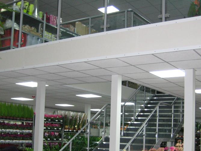 Retail Mezzanine Floor Bristol Flowervision